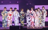 『Rakuten GirlsAward 2019 SPRING/SUMMER』に浴衣姿で登場した乃木坂46 (C)ORICON NewS inc.