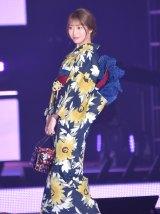 『Rakuten GirlsAward 2019 SPRING/SUMMER』に浴衣姿で登場した乃木坂46・桜井玲香 (C)ORICON NewS inc.