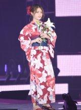 『Rakuten GirlsAward 2019 SPRING/SUMMER』に浴衣姿で登場した乃木坂46・松村沙友理 (C)ORICON NewS inc.
