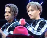 ライブ舞台『THE YOUNG LOVE DISCOTHEQUE 2019』の公開前囲み取材に出席した(左から)草間リチャード敬太、末武幸紘 (C)ORICON NewS inc.