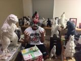 獣神サンダー・ライガー※周囲の怪獣フィギュアは自作(C)新日本プロレス