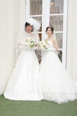 土曜ドラマ『俺のスカート、どこ行った?』古田新太&白石麻衣Wウエディングドレスを披露 (C)日本テレビ