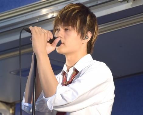 映画『小さな恋のうた』公開前夜祭フリーライブイベントを開催した佐野勇斗 (C)ORICON NewS inc.