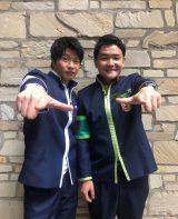 26日放送サンバリュ『凄技!仮スマ動画』に出演する田中圭と千鳥のノブ 『ゴチになります』でも共演中(C)日本テレビ