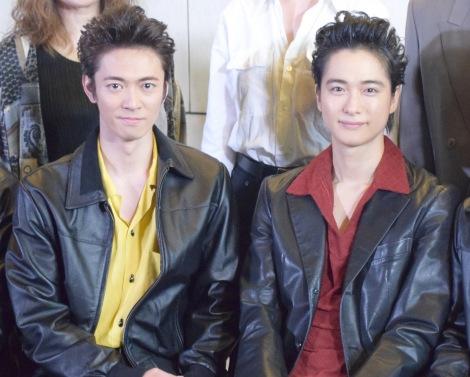 舞台『BACKBEAT』囲み取材に出席した(左から)辰巳雄大、戸塚祥太 (C)ORICON NewS inc.
