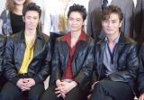 舞台『BACKBEAT』囲み取材に出席した(左から)辰巳雄大、戸塚祥太、加藤和樹 (C)ORICON NewS inc.