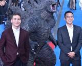 (左から)ザック・シールズ氏、マイケル・ドハティ監督=映画『ゴジラ キング・オブ・モンスターズ』ゴジラカーペットイベント (C)ORICON NewS inc.
