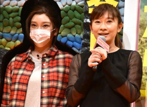 (左から)ざわちん、篠原涼子 (C)ORICON NewS inc.