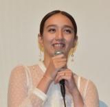 映画『耳を腐らせるほどの愛』完成披露の舞台あいさつに参加した長井短 (C)ORICON NewS inc.