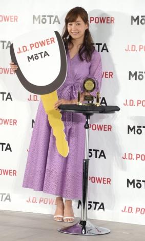 『オートックワン×J.D.パワー』の発表会に出席した藤本美貴 (C)ORICON NewS inc.