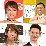 左上から時計回りに高橋みなみ、春日俊彰、川栄李奈、JOY(C)ORICON NewS inc.