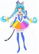 アニメ『スター☆トゥインクルプリキュア』5人目のプリキュアとして登場するキュアコスモ(C)ABC-A・東映アニメーション