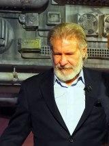 カリフォルニアのディズニーランド・パークで行われた『スター・ウォーズ:ギャラクシーズ・エッジ』のオープニング・セレモニーに登壇したハリソン・フォード