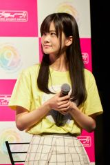 『ラブライブ!SP生放送 ラブライブ!シリーズ9周年発表会』に出席した大西亜玖璃