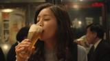 『キリン一番搾り生ビール』の新TVCMに出演する足立梨花