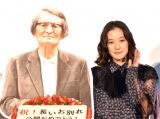 山崎努への思いを語った蒼井優=映画『長いお別れ』公開記念舞台あいさつ (C)ORICON NewS inc.
