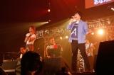 マルシャショーラ Special Guest Bandコーナー「福笑い」(左から)Rihwa、山村隆太 Photo by 山川哲矢