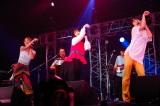 マルシャショーラ Special Guest Bandコーナー「TOKYO GIRL」(左から)Rihwa、佐々木萌、山出愛子 Photo by 上山陽介