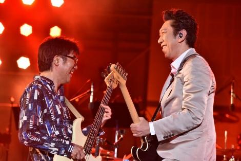 『日比谷音楽祭』1日目の「Hibiya Dream Session 1」に出演した布袋寅泰(6月1日=日比谷野外音楽堂)