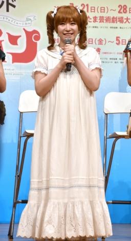 ミュージカル『ピーターパン』製作発表記者会見に出席した河西智美 (C)ORICON NewS inc.