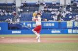 『日本生命セ・パ交流戦』開幕戦で自身2度目となる始球式を行った本田紗来