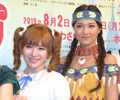 ミュージカル『ピーターパン』製作発表記者会見に出席した(左から)河西智美、宮澤佐江 (C)ORICON NewS inc.