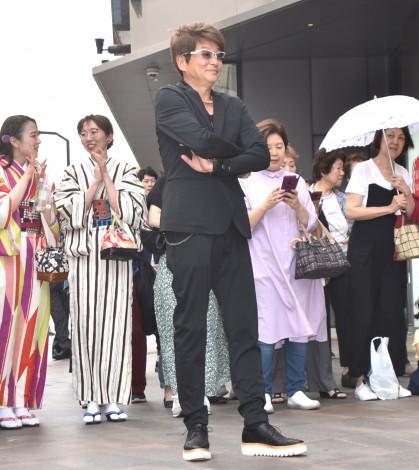 メジャーデビューシングル「唯我独尊SOUL」のリリース記念イベントにゲストとして登場した哀川翔 (C)ORICON NewS inc.