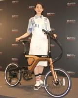 自転車への愛着を見せたのん=『次世代プレミアムe-Bike BESV 2019年新モデル』発売記念イベント (C)ORICON NewS inc.