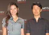 『次世代プレミアムe-Bike BESV 2019年新モデル』発売記念イベントに出席した(左から)福田萌子、栗村修氏