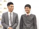国際芸術コンペティション『アートオリンピア2019 結果発表式典』に出席した(左から)レイザーラモンHG、もう中学生 (C)ORICON NewS inc.