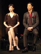 劇団EXILEの第5回舞台公演『レッドクリフ-愛』の製作発表会見に出席した(左から)リン・チーリン、AKIRA (C)ORICON NewS inc.