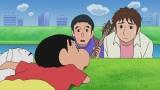6月14日放送、テレビ朝日系『クレヨンしんちゃん』で「ゆずがやってきたゾ」でアフレコに挑戦したゆず(C)臼井儀人/双葉社・シンエイ・テレビ朝日・ADK