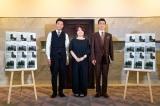 朗読劇『My friend Jekyll』囲み取材(左から)shoji、瀬戸山美咲氏、Oguri