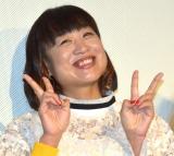 映画『エリカ38』公開記念舞台あいさつに登壇したしずちゃん(山崎静代) (C)ORICON NewS inc.