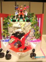 『東京おもちゃショー2019』授賞式でボーイズ・トイ部門の大賞に授賞した『騎士竜シリーズ01&02&03竜装合体 DXキシリュウオースリーナーナイツセット』(バンダイ) (C)ORICON NewS inc.