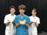『白衣の戦士!』×『ZIP!』しゅんP(中央)と篠原光アナ(左)、後呂有紗アナ (C)日本テレビ