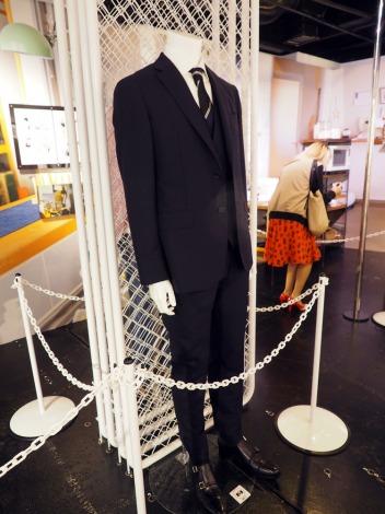 劇中で西島秀俊が着用したシロさんのスーツ=『きのう何食べた?』展、開催中 (C)ORICON NewS inc.
