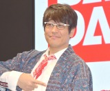 『東京おもちゃショー』のバンダイブースで『おもちゃの過去未来対談』に参加した古坂大魔王 (C)ORICON NewS inc.