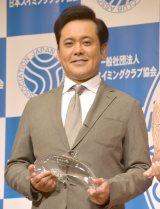 母が元五輪候補のスイマーだったことを明かした有田哲平=『第20回ベストスイマー2019』授賞式 (C)ORICON NewS inc.