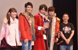 (左から)森高愛、西川俊介、小澤亮太、岸洋佑、坂本浩一監督 (C)ORICON NewS inc.