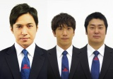 日曜劇場『ノーサイドゲーム』に出演する高橋光臣、ブリリアン・コージ、笠原ゴーフォワード(C)TBS