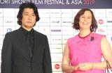 『ショートショートフィルムフェスティバル&アジア』(SSFF&ASIA)に出席した(左から)永瀬正敏、ジーナ・デラバルカ (C)ORICON NewS inc.