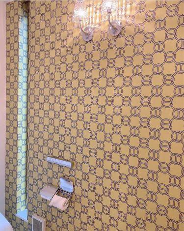 エルメスの壁紙を貼ったトイレ (写真はインスタグラムより、事務所許諾済み)