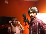 1周年記念のテーマソングのレコーディング風景 (写真はれいたぴ(山田麗華)公式ブログより)