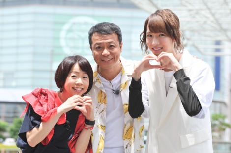 新番組『静岡ダイスキTV』(左から)MAG!C☆PRINCE・西岡健吾、中山秀征、久保ひとみ