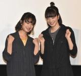 映画『さよならくちびる』公開御礼舞台あいさつに登壇した(左から)門脇麦、小松菜奈 (C)ORICON NewS inc.