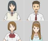 映画『二ノ国』に登場するメインキャラクター(左上から)ユウ、ハル、コトナ、アーシャ姫(C)2019 映画「二ノ国」製作委員会