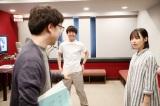 新海誠監督の最新作『天気の子』(7月19日公開)新海誠監督と談笑する醍醐虎汰朗と森七菜