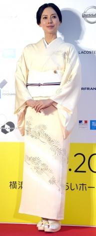 『フランス映画祭2019横浜』のオープニングセレモニーに登場した中谷美紀 (C)ORICON NewS inc.