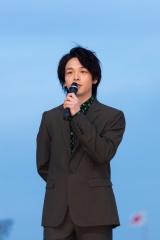 『第42回帝王賞』前にトークショーに出席した中村倫也